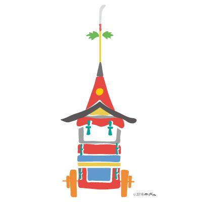 長刀鉾のイラスト