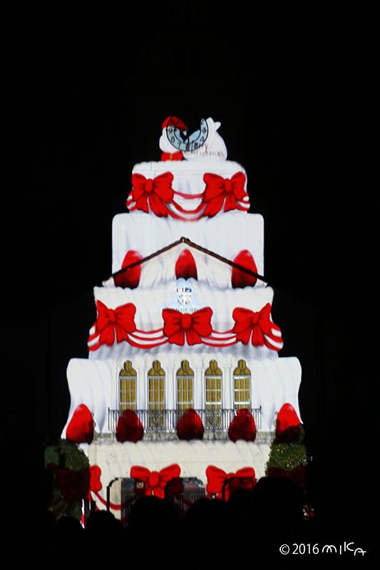 クリスマスケーキ(関西学院大学時計台プロジェクションマッピング2016年)