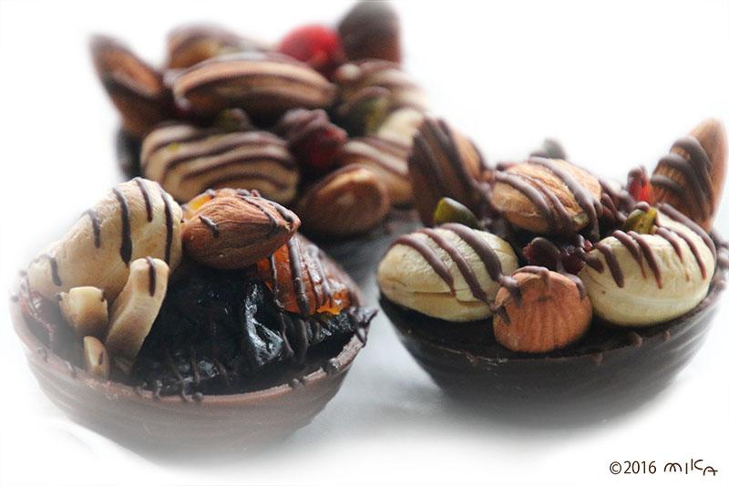 ナッツのチョコレート