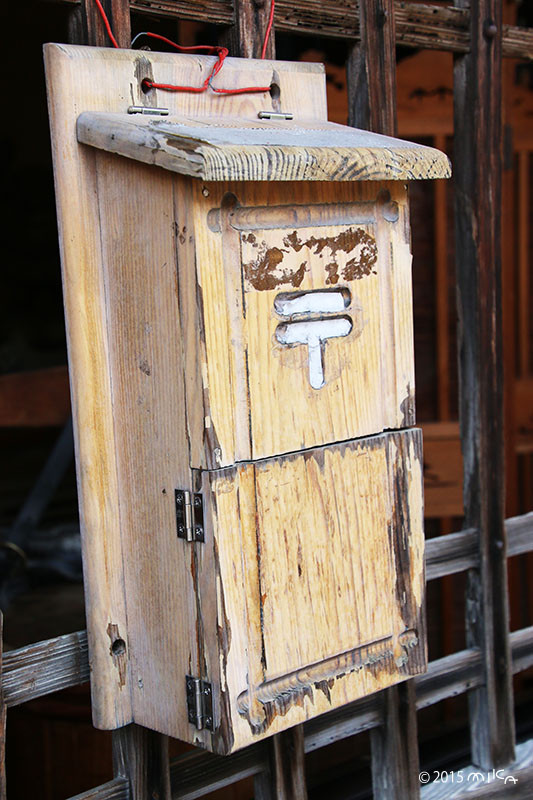 木製のポスト