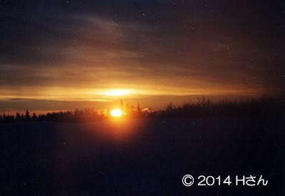 アラスカの日の出(12月午前11時頃)大阪府Hさん