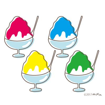 四色のかき氷