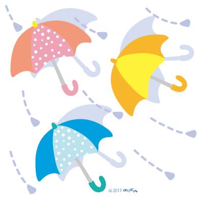 横ぶりの雨に傘