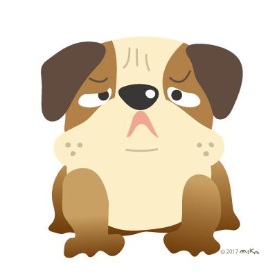 ブルドックの番犬(困った顔)