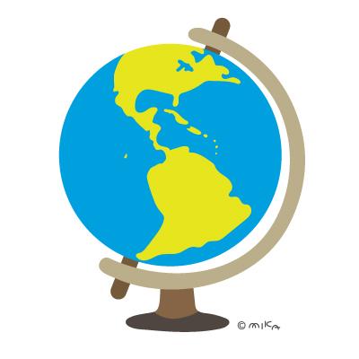 地球儀(南北アメリカなど)
