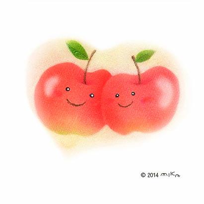 りんご(パステル)