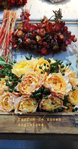 Bouquet d'été (roses de jardin 49€)