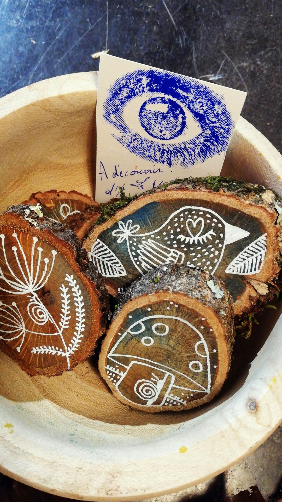 Les petits messages sur bois d'Ana 9€