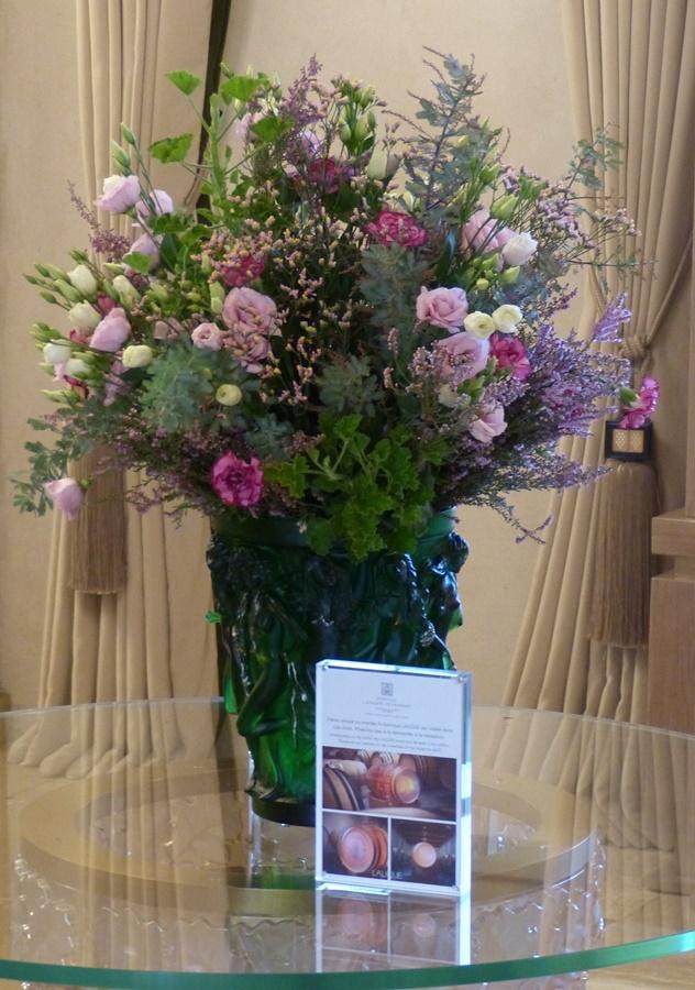 Le bouquet d'accueil reste une très jolie attention.