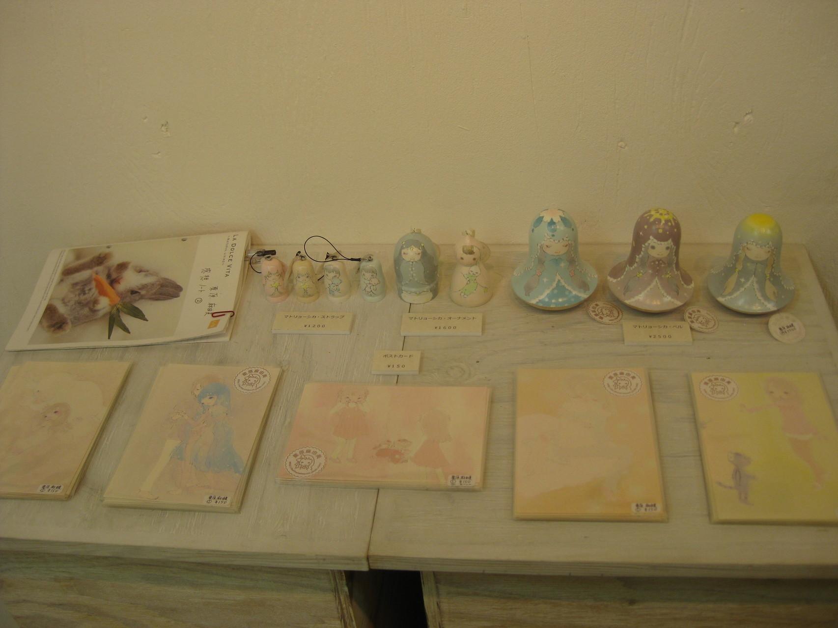 夢のイメージのマトリョーシカ、展示作品のポストカード。