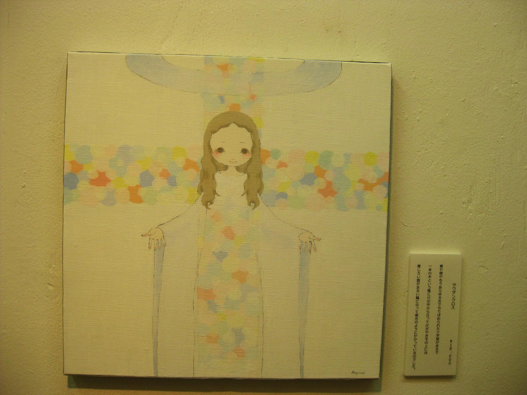 「サウザンクロス」真っ白な光、色とりどりの十字架。