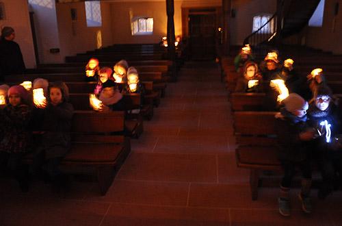 ev. Kirche im Dunkeln