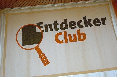 Unser liebevoll genähtes Entdecker-Logo