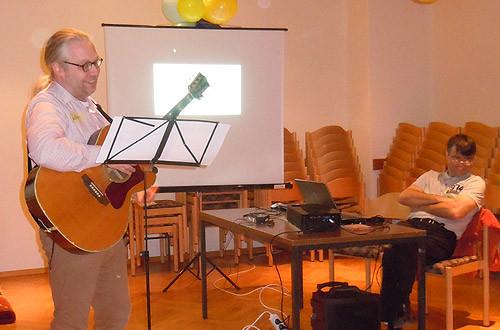 Joachim und Markus sorgen für Musik und den techn. Support.
