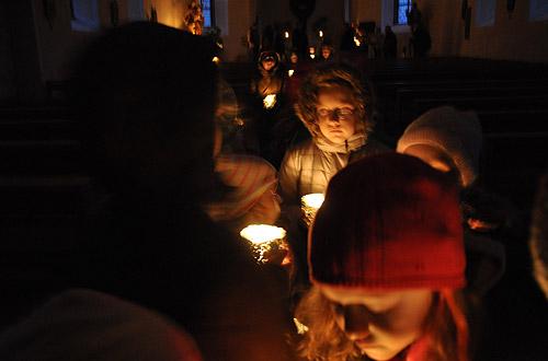 kath. Kirche im Dunkeln