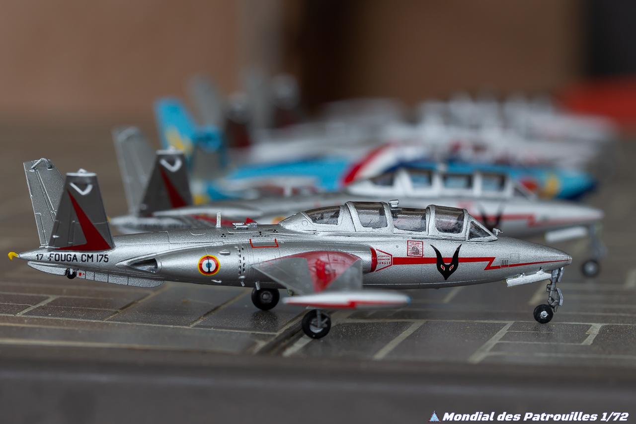 Patrouille de Fouga CM-175 Zéphyr Escadrille 59 S maquettes 1/72