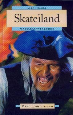 """""""Skateiland"""", die Afrikaanse vertaling van """"Treasure Island"""" deur Robert Louis Stevenson."""