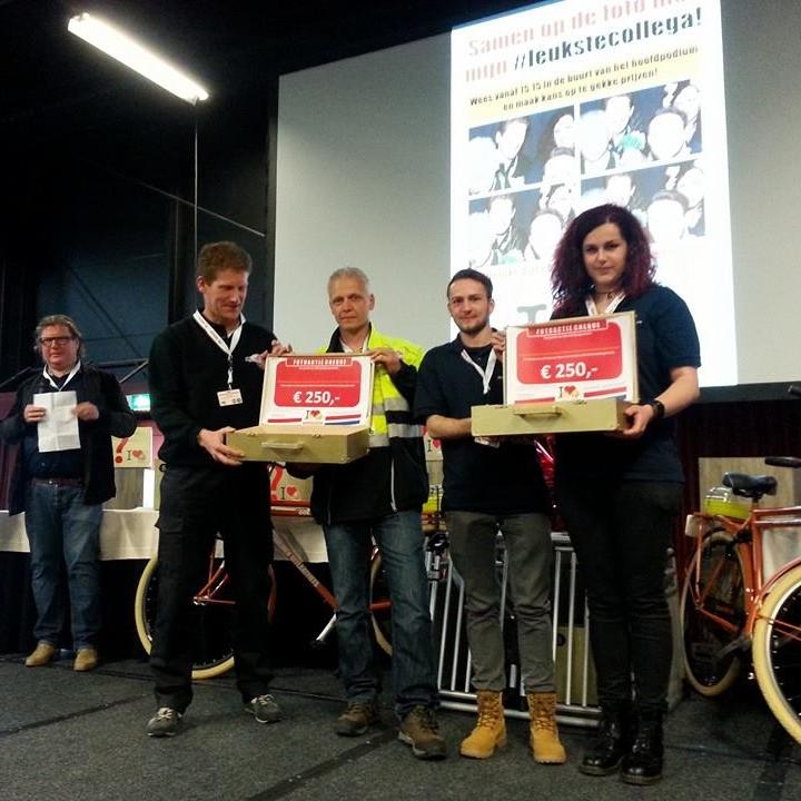 Met dank aan onze collega's van Smakterheide hebben Mic en Thalita een mooie prijs van €250,- voor stichting Carnivora gewonnen!