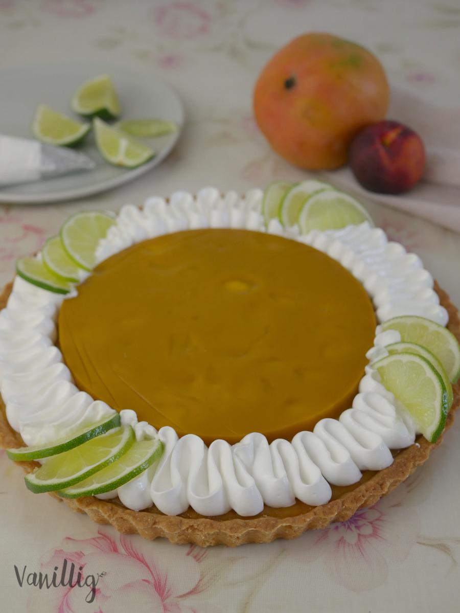 Limetten Tarte mit Mango und Mirengue