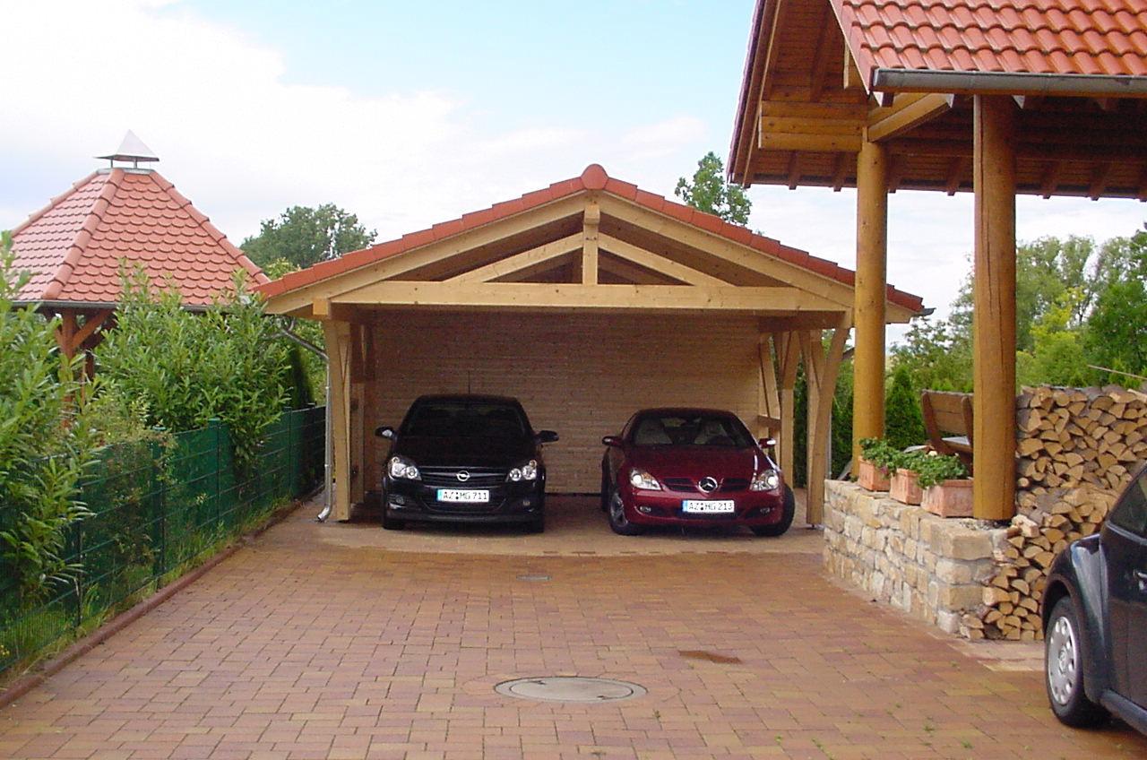 Garage mit carport satteldach  Spitzdach Carport nach Ihren wünschen - Solarterrassen ...