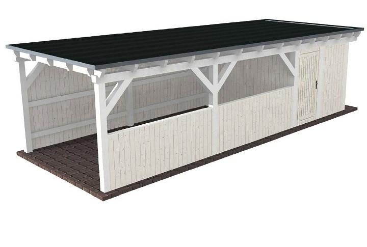 Beispiel 14 Premium Flachdach Carport