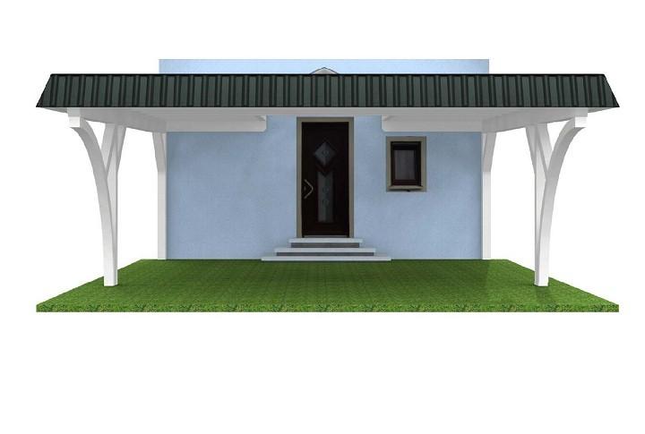 Beispiel 8  Premium Flachdach Carport