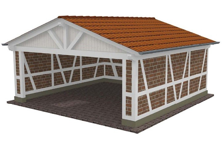 Beispiel 2 Spitzdach Carport