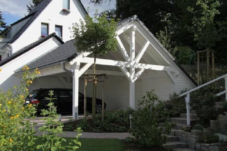 3. Spitzdach Carport Galerie