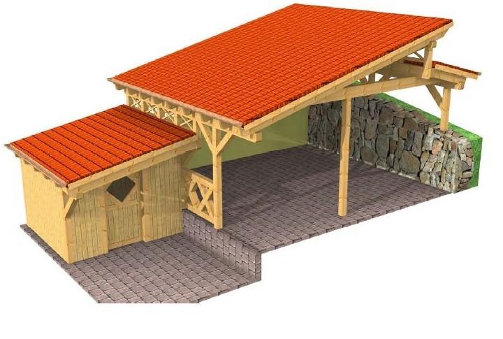 Beispiel 3 Design & Pultdach Carport
