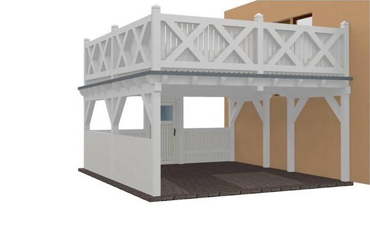 Beispiel 18 Premium Flachdach Carport