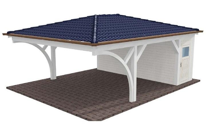 carport walmdach my blog. Black Bedroom Furniture Sets. Home Design Ideas