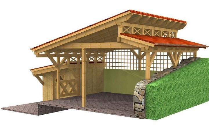 Beispiel 2 Design & Pultdach Carport