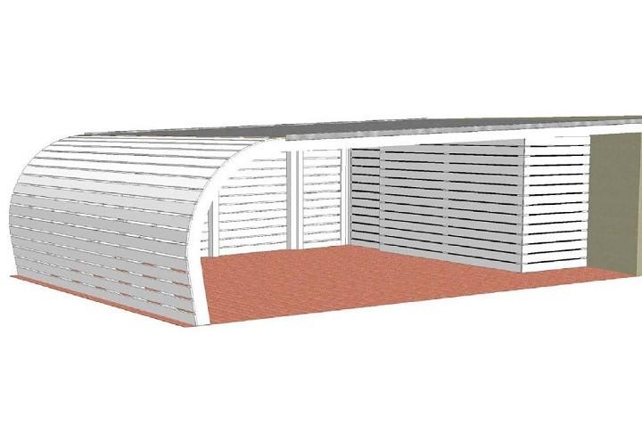 Beispiel 6 Design & Pultdach Carport
