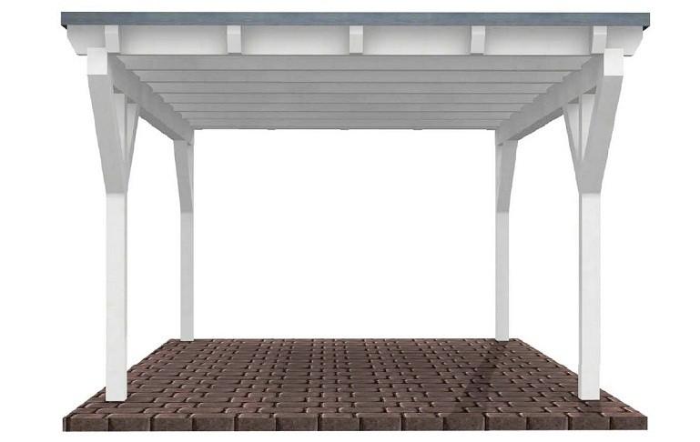 Beispiel 16 Premium Flachdach Carport