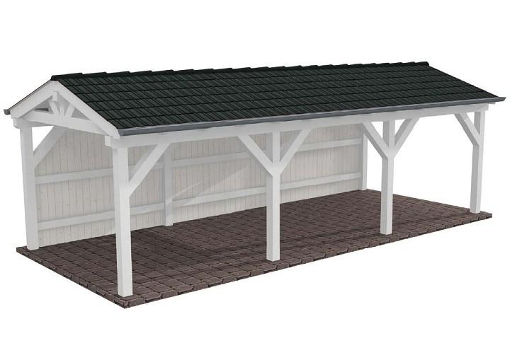 Beispiel 4 Spitzdach Carport