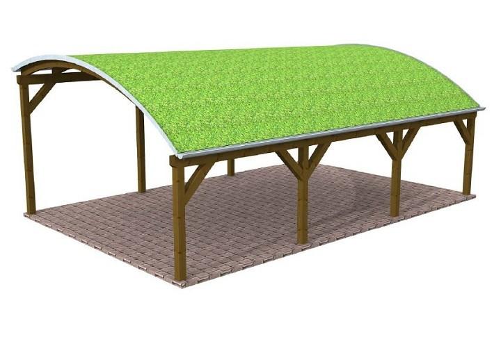 Beispiel 4 Design & Pultdach Carport