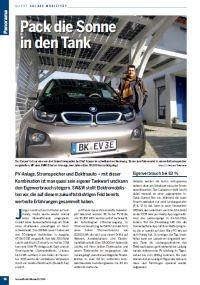 Solarcarport Zeitungsartikel