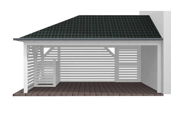 Beispiel 6 Walmdach Carport