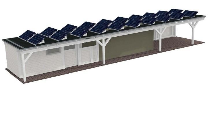 Beispiel 2 Premium Flachdach Carport