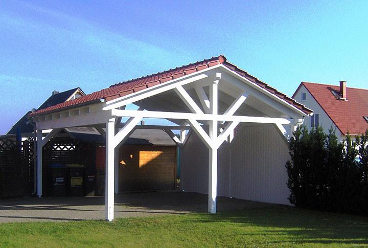 2. Spitzdach Carport Galerie