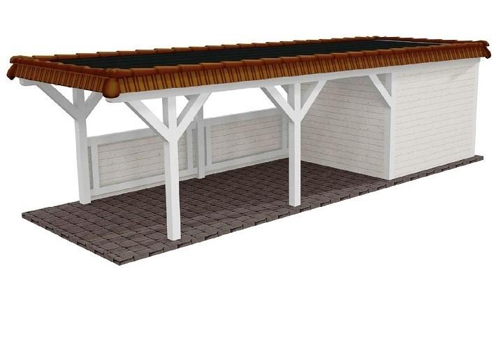 Beispiel 17 Premium Flachdach Carport