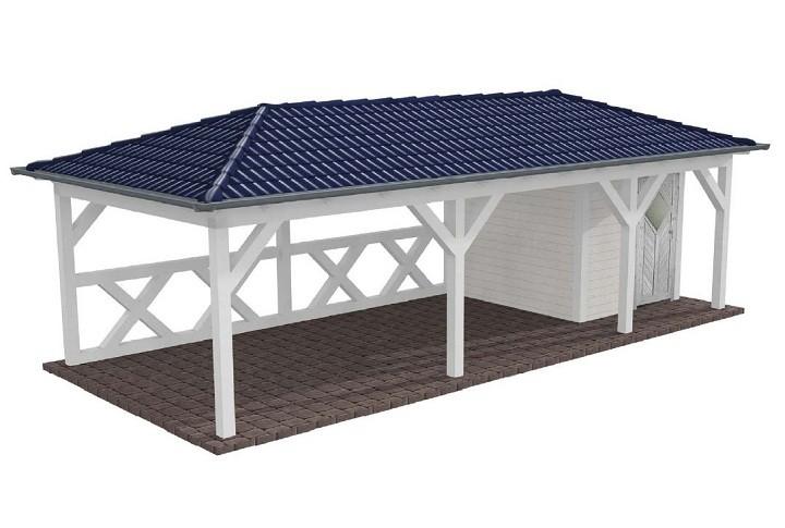 Beispiel 2 Walmdach Carport