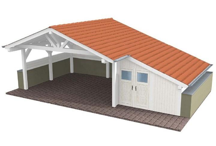 Beispiel 1 Spitzdach Carport