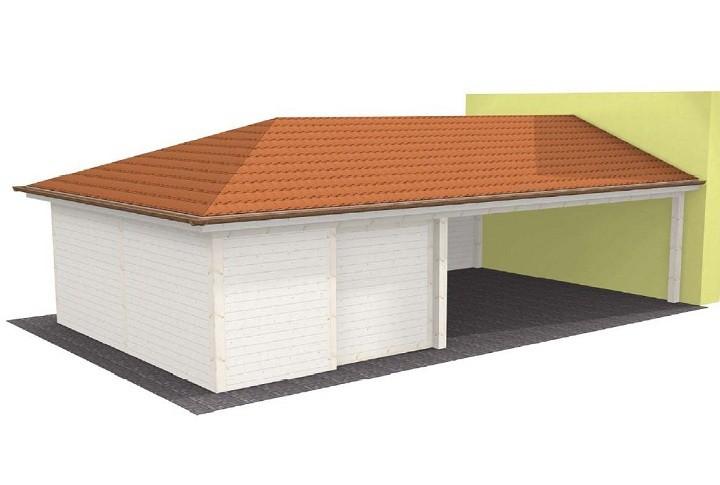 Beispiel 4 Walmdach Carport