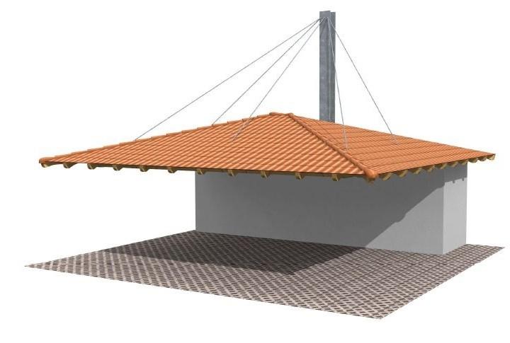 Beispiel 1 Walmdach Carport