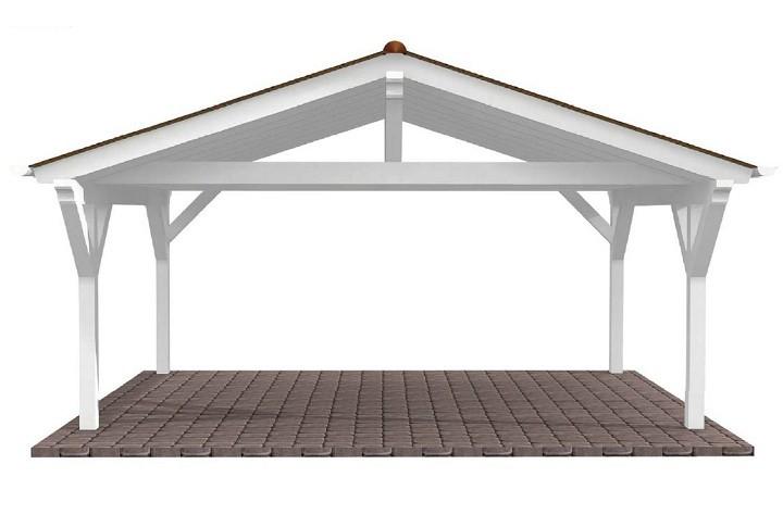 Beispiel 5 Spitzdach Carport