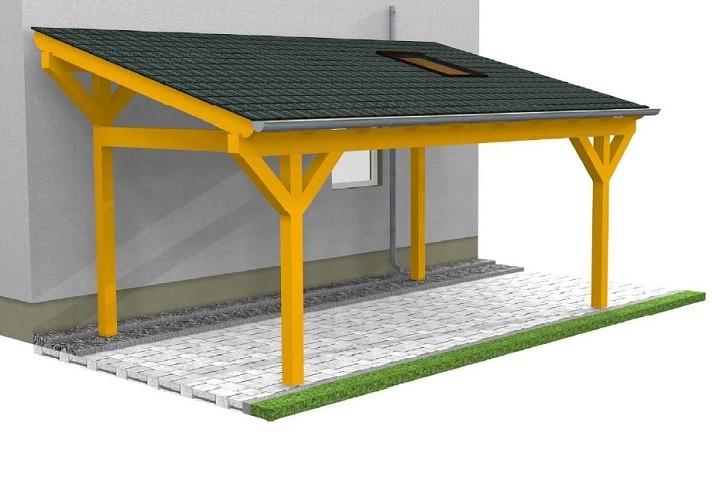 Beispiel 5 Design & Pultdach Carport