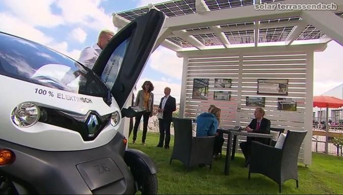 Muster Solarcarport mit Renault Twizy