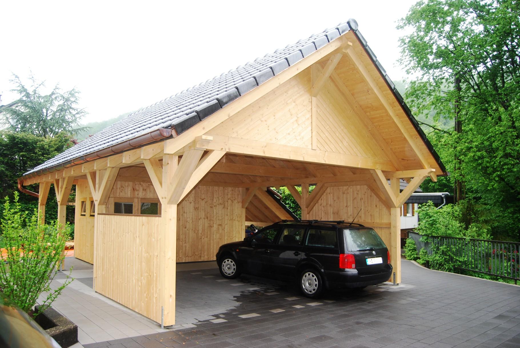 44. Spitzdach Carport Galerie