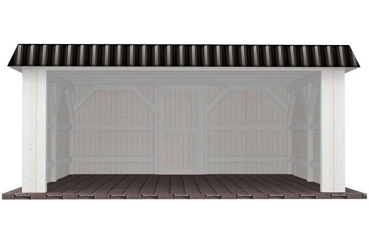 Beispiel 10 Premium Flachdach Carport